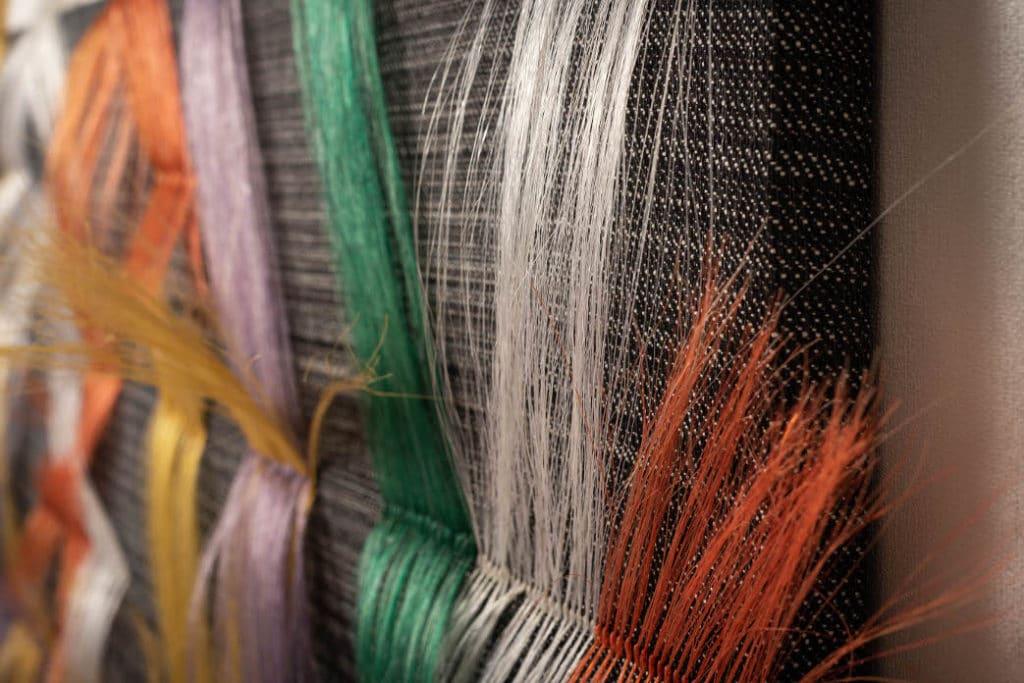detail coloured horsehair