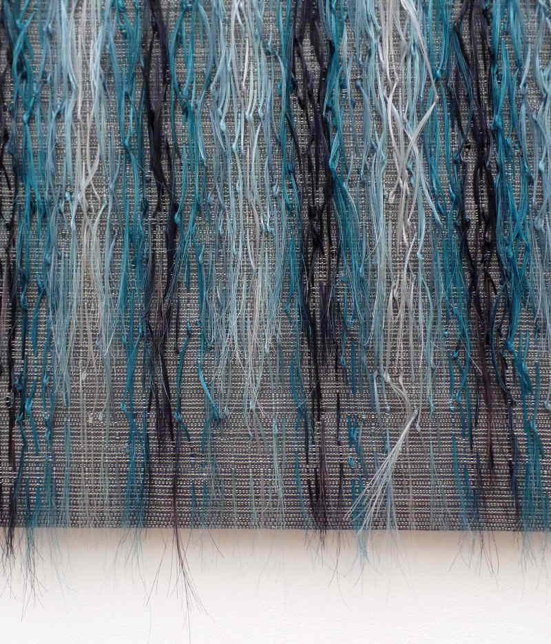 Marianne Kemp - turquoise horsehair weaving
